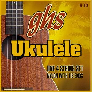 ghs H-10 ハワイアン・ウクレレ を 2set ブラックナイロンウクレレ弦