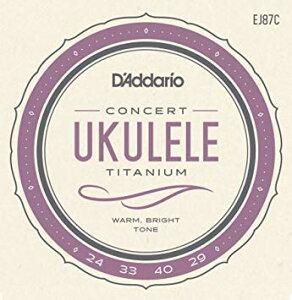D'Addario EJ87C Titanium Ukulele, Concert を 1set ダダリオ コンサートウクレレ弦
