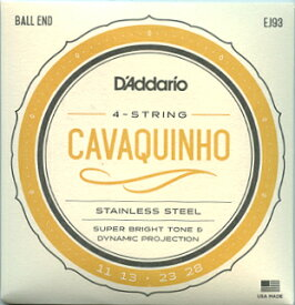 D'Addario ダダリオ カヴァキーニョ弦 ステンレススチール .011-.028 EJ93 を 1set