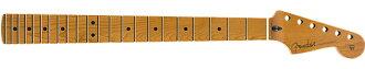 """FenderRoastedMapleStratocasterNeck,22JumboFrets,12"""",Maple,FlatOvalShape【フェンダー純正パーツ】【新品】"""