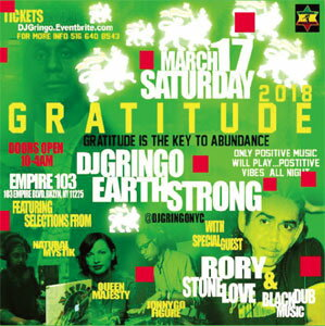 [予約]RORY FROM STONE LOVE / GRATITUDE 2018 DJ GRINGO BIRTHDAY BASH