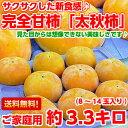新食感!サクサク・ジューシー♪見た目からは想像できない美味しさ!熊本産 「太秋柿(たいしゅう)」ご家庭用 約3.3k…