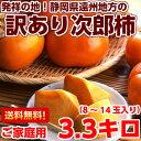 昔ながらの素朴な味わい♪発祥の地ならでは!ご家庭用 次郎柿約3.3kg【北海道800円・沖縄、一部離島1,000円】