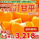 【送料無料】【訳あり】シャキシャキした果肉が絶品♪感動の新柑橘!甘平(かんぺい) 訳あり 2.5Kg【北海道・沖縄・…