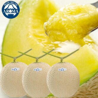 Big ball aroma melon 1.4 kg *3 ball from Shizuoka