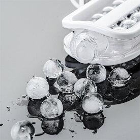 製氷皿 丸型 2in1 水筒 丸い氷 直径2.8cm まる氷 製氷機 お酒用氷 お菓子 アイス ボトル 家庭用 キッチン 夏の日 送料無料