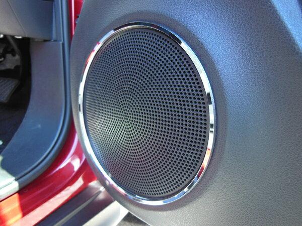 ニッサン JUKE ジューク 専用 フロントドアスピーカーリング クローム 2個1セット