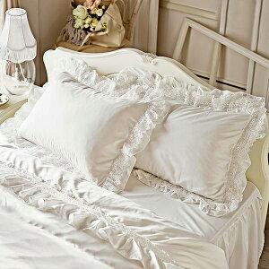 スイートローズレース枕カバー(ホワイト) 姫系 かわいい 可愛い カワイイ 姫系家具 プリンセス 姫インテリア ロマンティック お姫様 おしゃれ