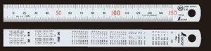 シンワ測定 シルバー直尺 60cm 13021