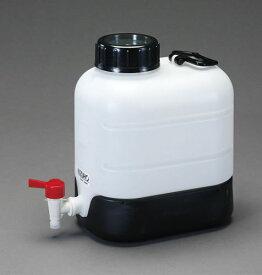 エスコ(ESCO) 20L ポリ容器(底部傾斜・コック付) EA508AW-20