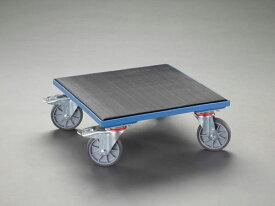 エスコ(ESCO) 500x500mm/400kg ドーリー(木製/ゴム張) EA520AD-15