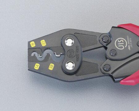 8.0-38mm2圧着ペンチ(裸端子用)EA538JGエスコ(ESCO)