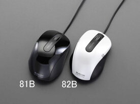 エスコ(ESCO) 1.0m 光学式マウス(BlueLED/ブラック) EA764AA-81B
