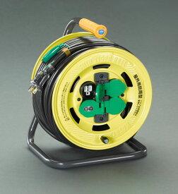 エスコ(ESCO) AC125V/15A/50m コードリール(防雨、漏電遮断器付 EA815BT-50