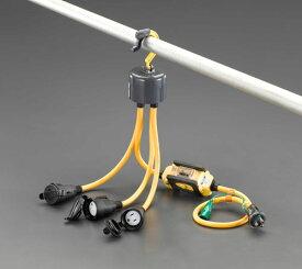 エスコ(ESCO) AC125V/15A/1.2m 延長コード(3口/漏電遮断器付 EA815GC-32