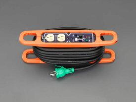 エスコ(ESCO) AC125V/15A/10m コードリール(アース・電流コントロール付 EA815GV-46