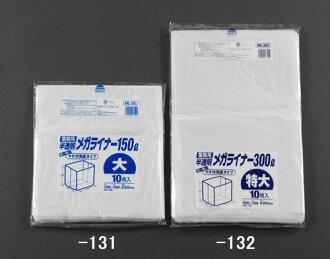 150 l trash bags (transparent / 10) EA 995AD-131 ESCO (ESCO)