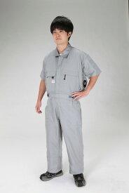 エスコ(ESCO) [3L] 空調継ぎ作業服(送風ファン付/半袖グレー) EA996AM-114