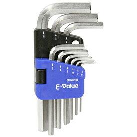 E-Value(藤原産業) 六角棒レンチセット ミリ ELHW09NL 4977292209212