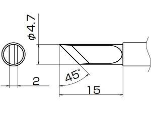 白光(HAKKO) こて先 K型 T12-K
