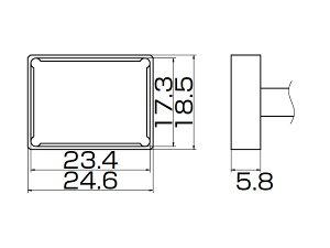 白光(HAKKO) こて先 クワッド 23.4×17.3 T12-1205
