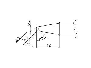 白光(HAKKO) こて先 2BC型 面のみ T20-BCF2