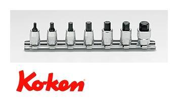 Ko-ken(コーケン) 6.35sq. ヘックスビットソケットレールセット RS2010M/7-L25