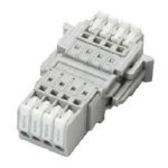 4 pole Screwless terminal units 2-piece structure ML-4000-AS-4P SATO parts