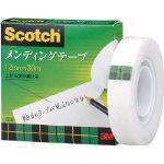 メンディングテープ 12mmX25mm巻芯 810-1-12 3M(スリーエム)