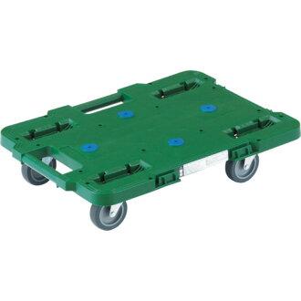 链接塑料平板车 lucban 400 × 600 4 轮自由绿色 MPB-600J-GN TRUSCO (trusco)