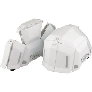 トーヨーセフティ 防災用 折りたたみヘルメット BLOOM2 ホワイト NO.101-WH