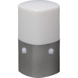 【直送】【代引不可】 IRIS(アイリスオーヤマ) 乾電池式LEDセンサーライト スタンドタイプ 角型 白色 OSL-MN2K-WS