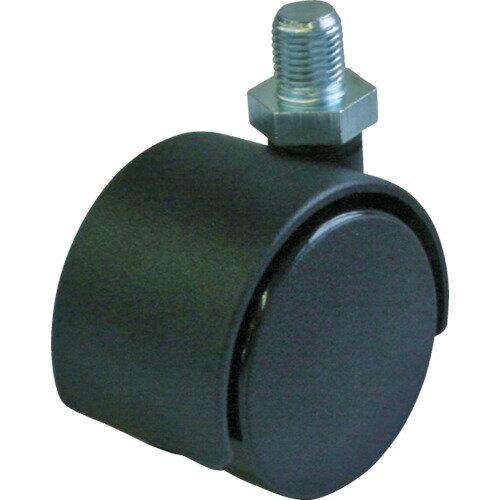 ユーエイキャスター 双輪キャスター(軽荷重・ナイロン車輪) 50mmW3/8X15 PT-50T-W3/8