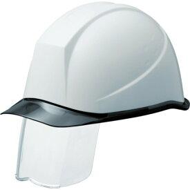 ミドリ安全 PC製ヘルメット スライダー面付 透明バイザー SC-11PCLSRA-KP-W/S