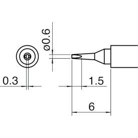 白光(HAKKO) こて先/0.6D型 T30-D06