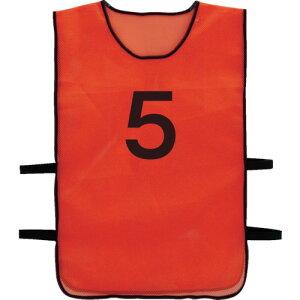 TRUSCO(トラスコ) 番号安全ベスト 「5」 オレンジ TBB-5