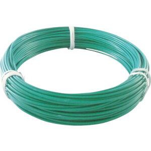 TRUSCO(トラスコ) カラー針金 ビニール被覆タイプ 2.0mmX25m 緑 TCWM-20GN