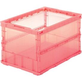【10/25(日)限定!全商品P5倍!】TRUSCO(トラスコ) 薄型折りたたみコンテナスケル 50L 赤 TSK-O50B R