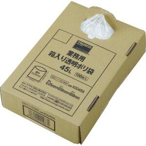 TRUSCO(トラスコ) まとめ買い 業務用ポリ袋 透明・箱入り 0.05X120L (100枚入) X0120N