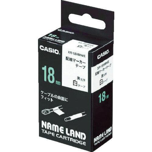 CASIO(カシオ計算機) ネームランド用配線マーカーテープ 18mm XR-18HMWE