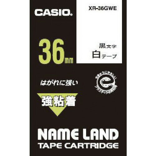 CASIO(カシオ計算機) ネームランド用強粘着テープ 36mm XR-36GWE