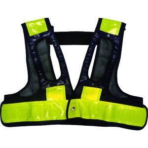 ミズケイ フルハーネス用安全ベスト「装着できるんです」 紺/黄 5941112