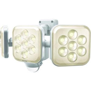 ムサシ(MUSASHI) 8W 3灯フリーアーム式 LEDセンサーライト電球色 LED-AC3025