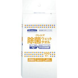 クレシア 除菌 ウェットタオル 詰め替え用 100枚 64145