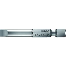 """Wiha(ビーハ) プロフェッショナル1/4"""" マイナスビットE63型 -8.0X1.2 50mm 7040Z8.0X50X1.2"""