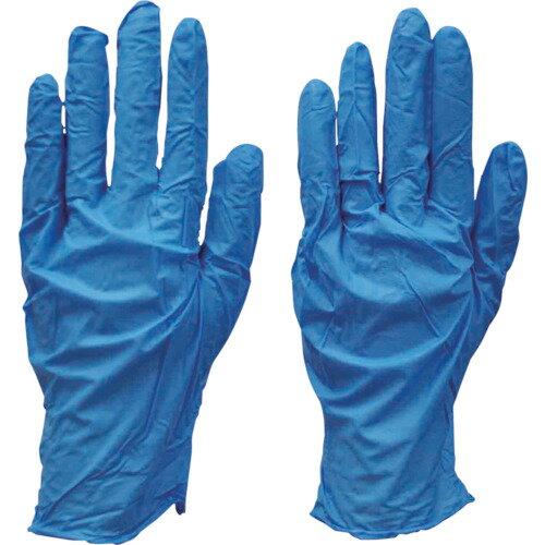 ダンロップ ニトリル極うす手袋 100枚入 L ブルー 粉付 7878
