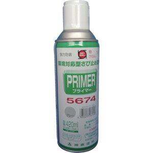 シントーファミリー プライマー5674スプレー N-8グレー 9972639