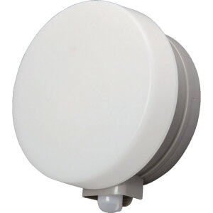 【直送】【代引不可】 IRIS(アイリスオーヤマ) 乾電池式LEDセンサーライト ウォールタイプ 丸型 電球色 BOS-WL1M-WS