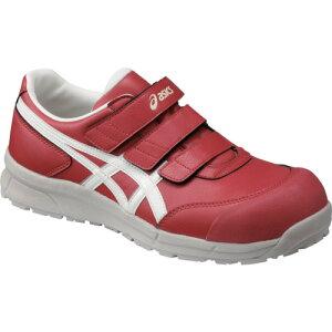 ASICS(アシックス) 作業靴 ウィンジョブ CP301 レッド×ホワイト 27.5cm FCP301.2301-27.5