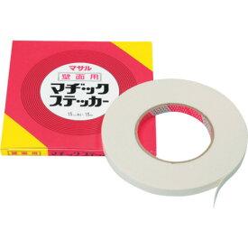 マサル工業 モール専用テープ マヂックステッカー 壁面用 15mm幅 15-KMS